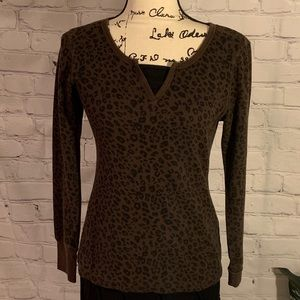 DANSKIN NOW Comfy Cute Animal Print Tee